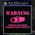 vehicle records surrounding traffic Decal Sticker Pink Hot Vinyl 120x120