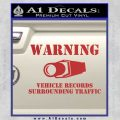 vehicle records surrounding traffic Decal Sticker Red 120x120
