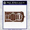 Doctor Who Bad Wolf TARDIS Mashup Decal Sticker BROWN Vinyl 120x120