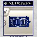 Doctor Who Bad Wolf TARDIS Mashup Decal Sticker Blue Vinyl 120x120