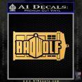 Doctor Who Bad Wolf TARDIS Mashup Decal Sticker Gold Vinyl 120x120