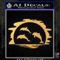 Dolphin Sunset Decal Sticker Gold Vinyl 120x120
