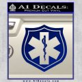 EMS Badge Decal Sticker Blue Vinyl 120x120