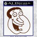 Family Guy Quagmire Decal Sticker BROWN Vinyl 120x120