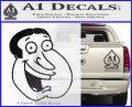 Family Guy Quagmire Decal Sticker Carbon FIber Black Vinyl 120x97