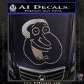 Family Guy Quagmire Decal Sticker Carbon FIber Chrome Vinyl 120x120
