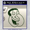 Family Guy Quagmire Decal Sticker Dark Green Vinyl 120x120