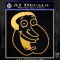 Family Guy Quagmire Decal Sticker Gold Vinyl 120x120