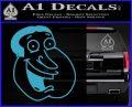 Family Guy Quagmire Decal Sticker Light Blue Vinyl 120x97