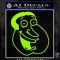 Family Guy Quagmire Decal Sticker Lime Green Vinyl 120x120