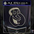 Family Guy Quagmire Decal Sticker Metallic Silver Emblem 120x120