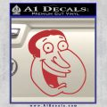 Family Guy Quagmire Decal Sticker Red 120x120