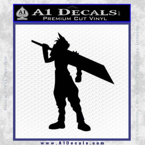 Final Fantasy VII Cloud Strife Decal Sticker Black Vinyl