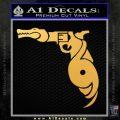 Florida Gators Guns Hurricanes D1 Decal Sticker Gold Vinyl 120x120