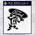 Ford Tazmanian Devil Decal Sticker Black Vinyl 120x120