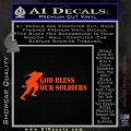 God Bless Our Soldiers Decal Sticker Orange Emblem 120x120