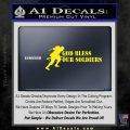 God Bless Our Soldiers Decal Sticker Yellow Laptop 120x120