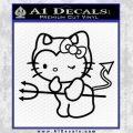 Hello Kitty Devilish Decal Sticker D1 Black Vinyl 120x120