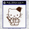 Hello Kitty Doctor Who Fez Decal Sticker BROWN Vinyl 120x120