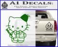 Hello Kitty Doctor Who Fez Decal Sticker Green Vinyl Logo 120x97