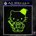 Hello Kitty Doctor Who Fez Decal Sticker Lime Green Vinyl 120x120