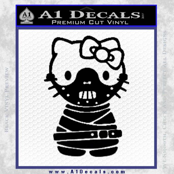 Hello Kitty Hannibal Lecter Decal Sticker Black Vinyl