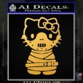 Hello Kitty Hannibal Lecter Decal Sticker Gold Vinyl 120x120