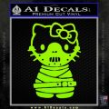 Hello Kitty Hannibal Lecter Decal Sticker Lime Green Vinyl 120x120