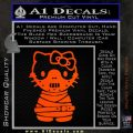 Hello Kitty Hannibal Lecter Decal Sticker Orange Emblem 120x120