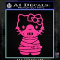 Hello Kitty Hannibal Lecter Decal Sticker Pink Hot Vinyl 120x120