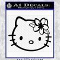 Hello Kitty Hawaii Hibiscus Decal Sticker Black Vinyl 120x120
