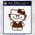 Hello Kitty Nerd Decal Sticker D1 BROWN Vinyl 120x120