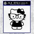 Hello Kitty Nerd Decal Sticker D1 Black Vinyl 120x120