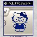 Hello Kitty Nerd Decal Sticker D1 Blue Vinyl 120x120