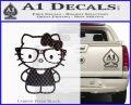 Hello Kitty Nerd Decal Sticker D1 Carbon FIber Black Vinyl 120x97