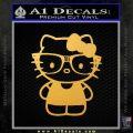 Hello Kitty Nerd Decal Sticker D1 Gold Vinyl 120x120