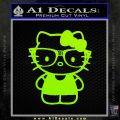 Hello Kitty Nerd Decal Sticker D1 Lime Green Vinyl 120x120