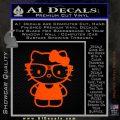 Hello Kitty Nerd Decal Sticker D1 Orange Emblem 120x120