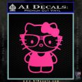 Hello Kitty Nerd Decal Sticker D1 Pink Hot Vinyl 120x120