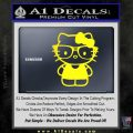 Hello Kitty Nerd Decal Sticker D1 Yellow Laptop 120x120