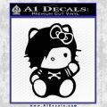 Hello Kitty Punk Emo Decal Sticker Black Vinyl Black 120x120