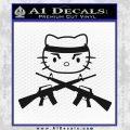 Hello Kitty Rambo Guns Decal Sticker Black Vinyl Black 120x120