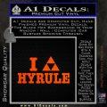 I Heart Hyrule Triforce Decal Sticker Zelda Orange Emblem 120x120