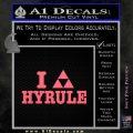 I Heart Hyrule Triforce Decal Sticker Zelda Pink Emblem 120x120