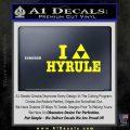 I Heart Hyrule Triforce Decal Sticker Zelda Yellow Laptop 120x120