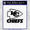 Kansas City Chiefs Stacked Decal Sticker Black Vinyl 120x120
