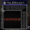 Leupold Firearms Decal Sticker Orange Emblem 120x120