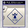 Lord of the Rings You Shall Not Pass Decal Sticker Blue Vinyl 120x120