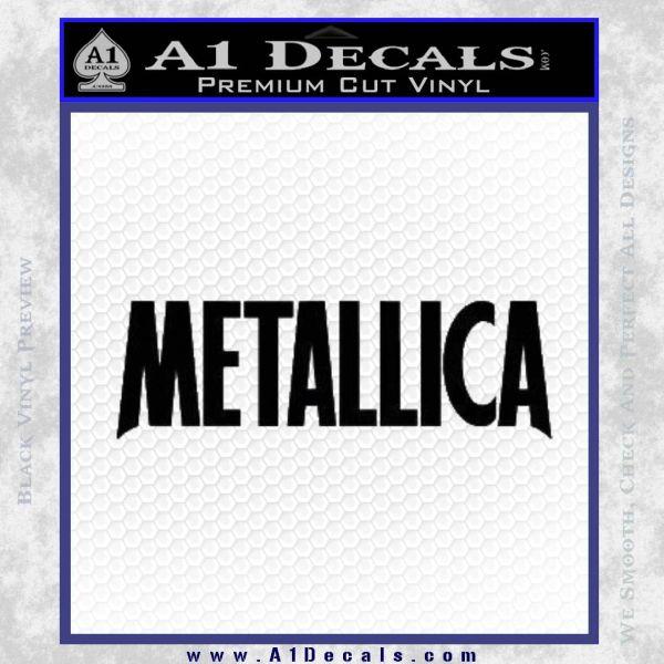 Metallica Thick Decal Sticker Black Vinyl