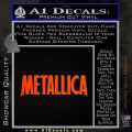 Metallica Thick Decal Sticker Orange Emblem 120x120